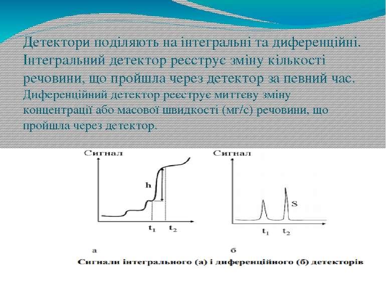 Детектори поділяють на інтегральні та диференційні. Інтегральний детектор реє...