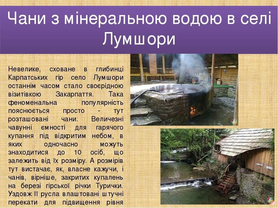 Чани з мінеральною водою в селі Лумшори Невелике, сховане в глибинці Карпатсь...