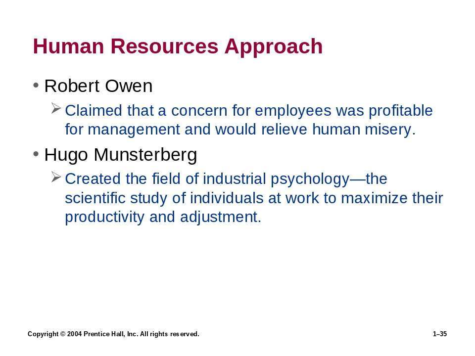 Copyright © 2004 Prentice Hall, Inc. All rights reserved. 1–* Human Resources...