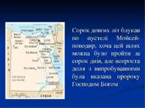 Сорок довгих літ блукав по пустелі Мойсей-поводир, хоча цей шлях можна було п...