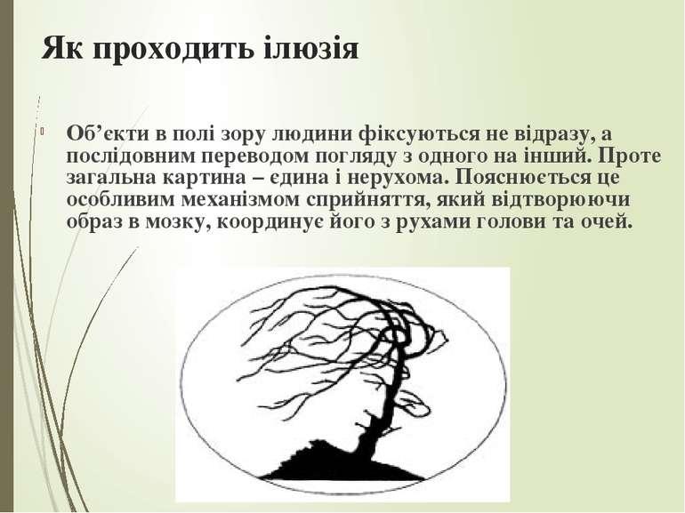 Як проходить ілюзія Об'єкти в полі зорулюдинифіксуються не відразу, а послі...