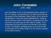 John Constable (1776 - 1837) John Constable is one of the greatest painters-r...