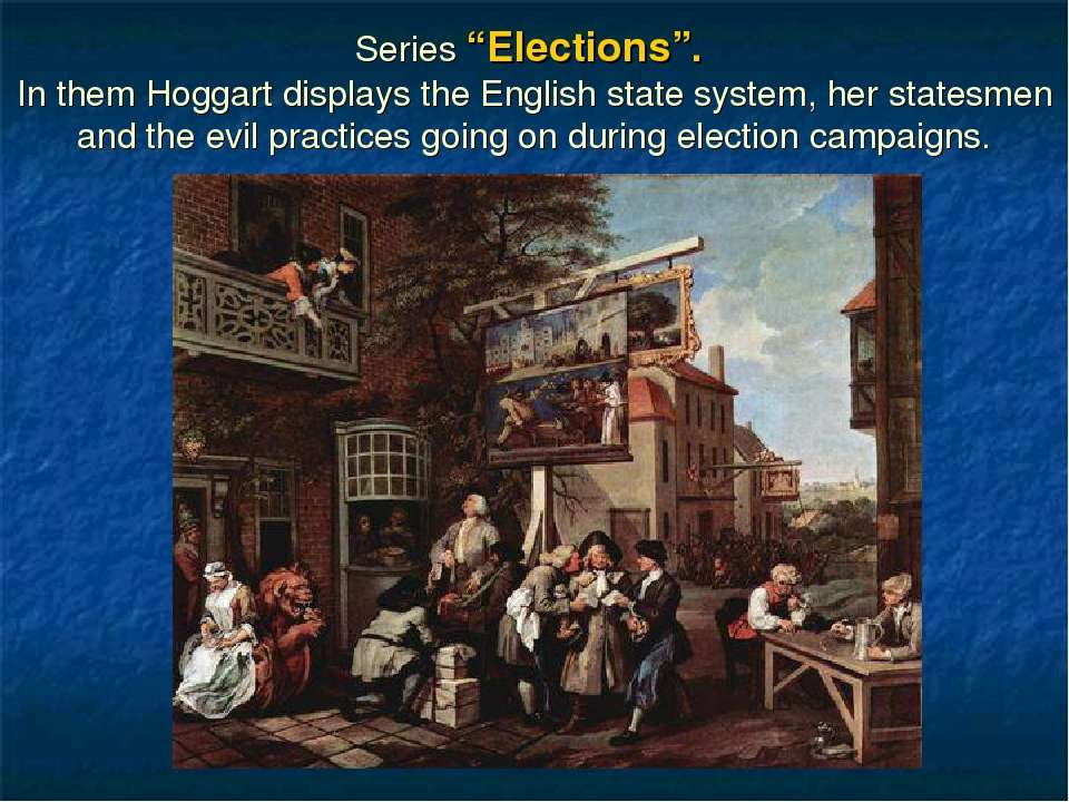 "Series ""Elections"". In them Hoggart displays the English state system, her st..."