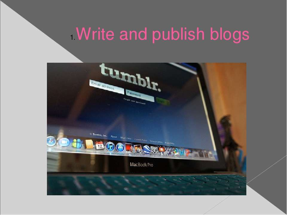 Write and publish blogs