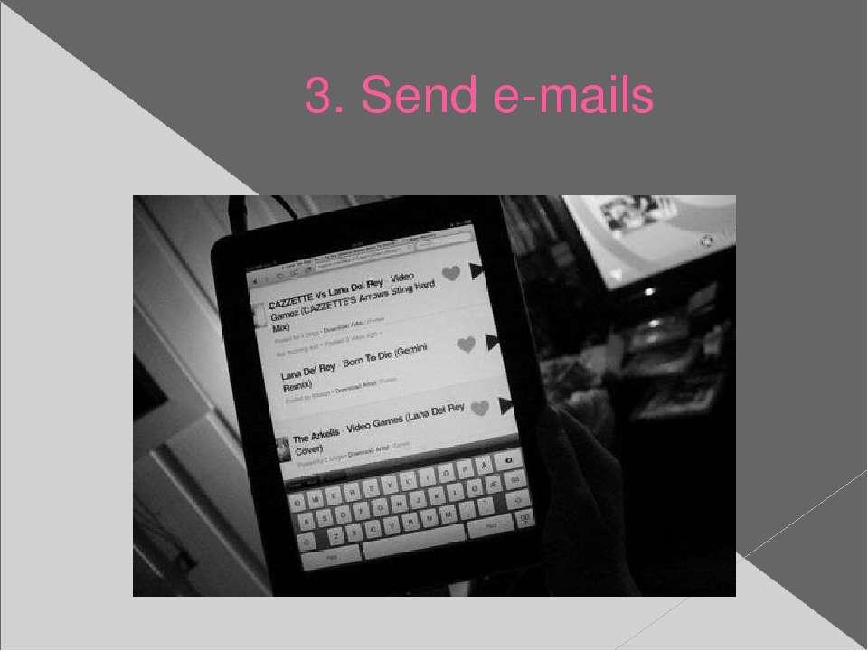 3. Send e-mails