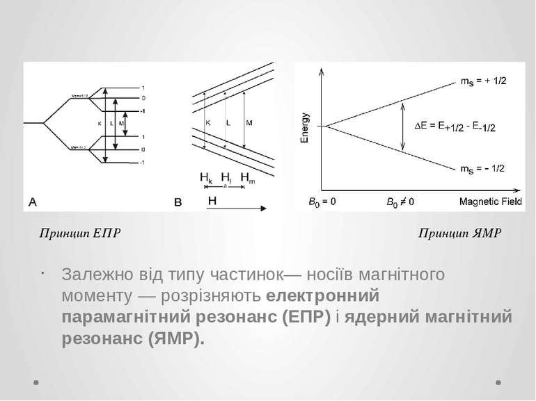 Залежно від типу частинок— носіїв магнітного моменту — розрізняють електронни...