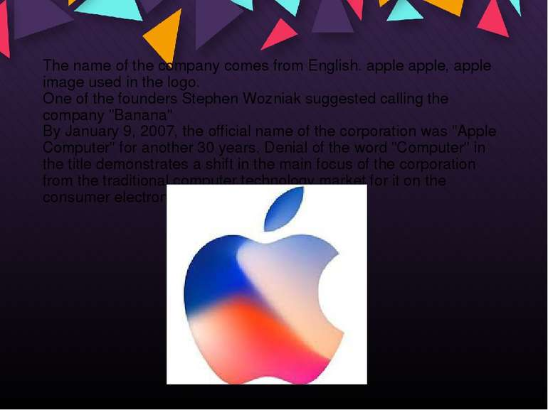 The name of the company comes from English. apple apple, apple image used in ...