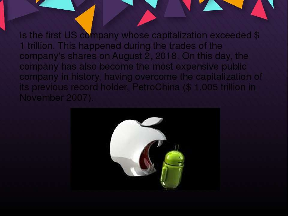 Is the first US company whose capitalization exceeded $ 1 trillion. This happ...