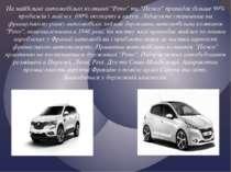"""На найбільші автомобільні компанії """"Рено"""" та """"Пежо"""" припадає більше 90% прода..."""