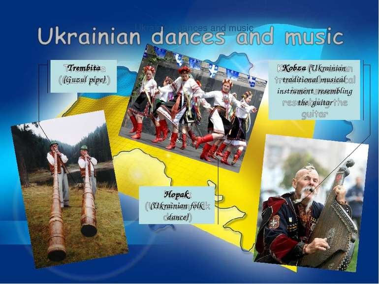 Ukrainian dances and music Kobza (Ukrainian traditional musical instrument re...