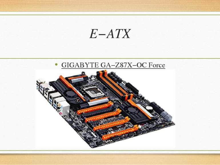 E−ATX GIGABYTEGA−Z87X−OCForce