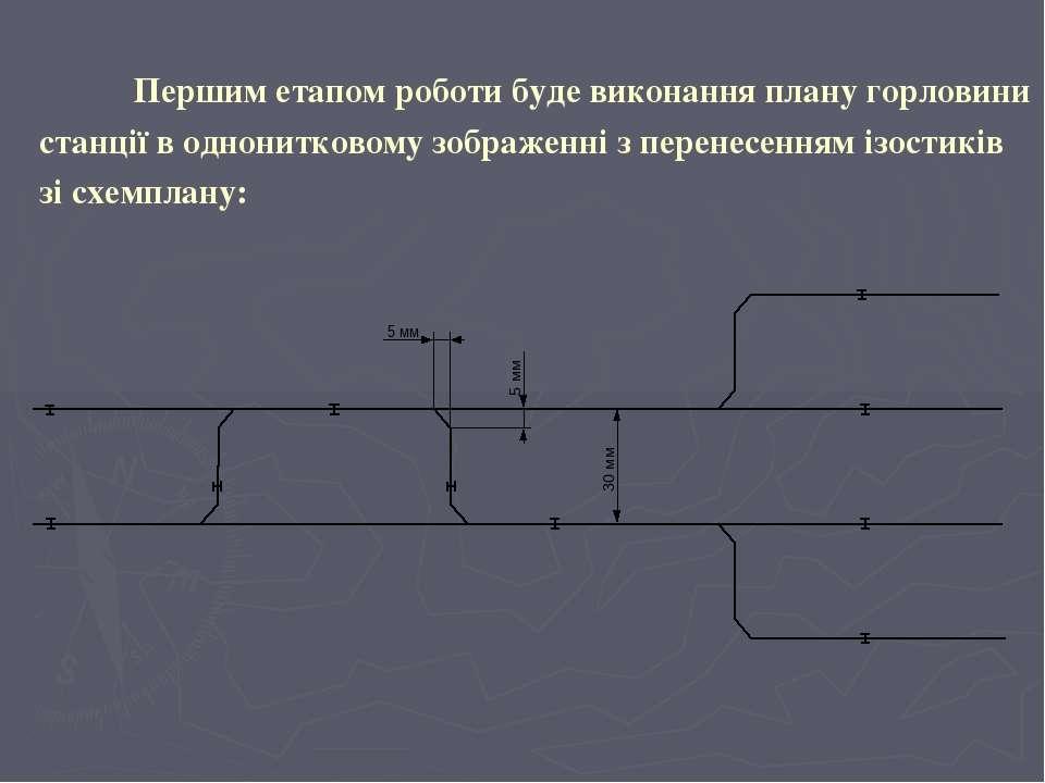 Першим етапом роботи буде виконання плану горловини станції в однонитковому з...