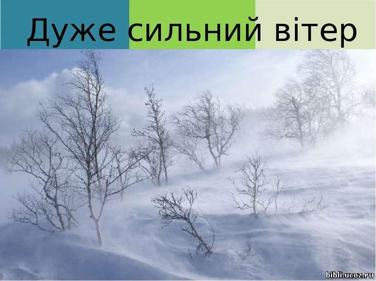 Дуже сильний вітер Ох, яка лиха година: Вітер виє, завиває, Розходилась хурто...