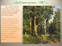 «Дубовая роща» 1887 г. Мы словно читаем «историю» дубов, этих «персонажей», п...