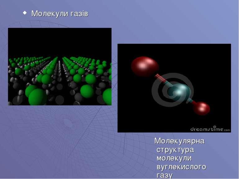 Молекули газів Молекулярна структура молекули вуглекислого газу