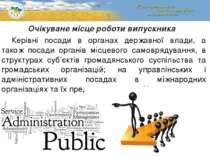Керівні посади в органах державної влади, а також посади органів місцевого са...