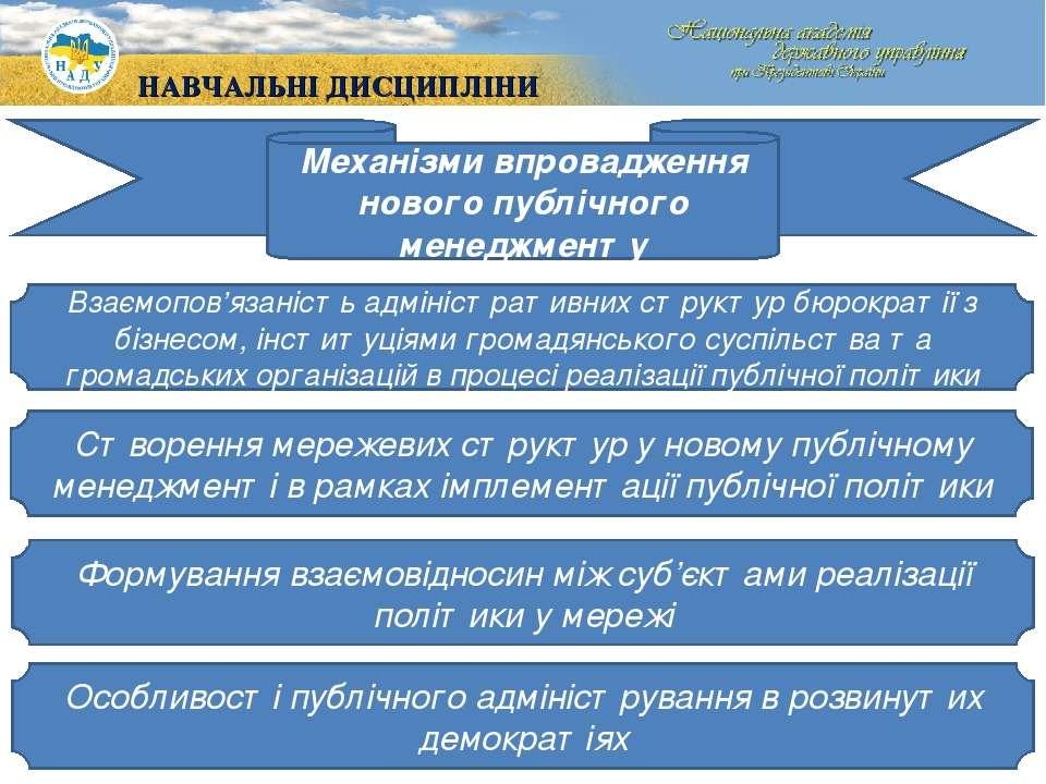 Механізми впровадження нового публічного менеджменту Взаємопов'язаність адмін...