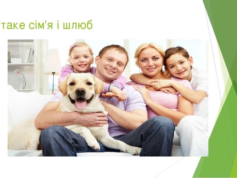 Що таке сім'я і шлюб