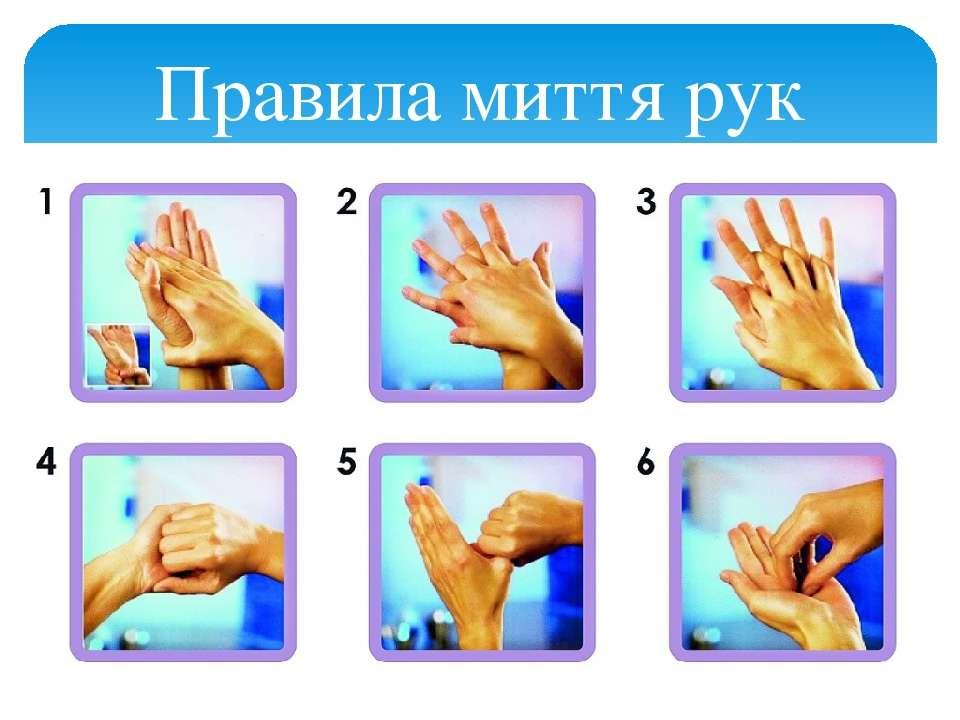 Правила миття рук