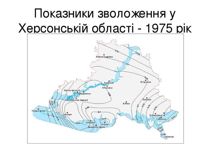 Показники зволоження у Херсонській області - 1975 рік