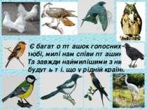 Є багато пташок голосних, любі, милі нам співи пташині. Та завжди наймилішими...