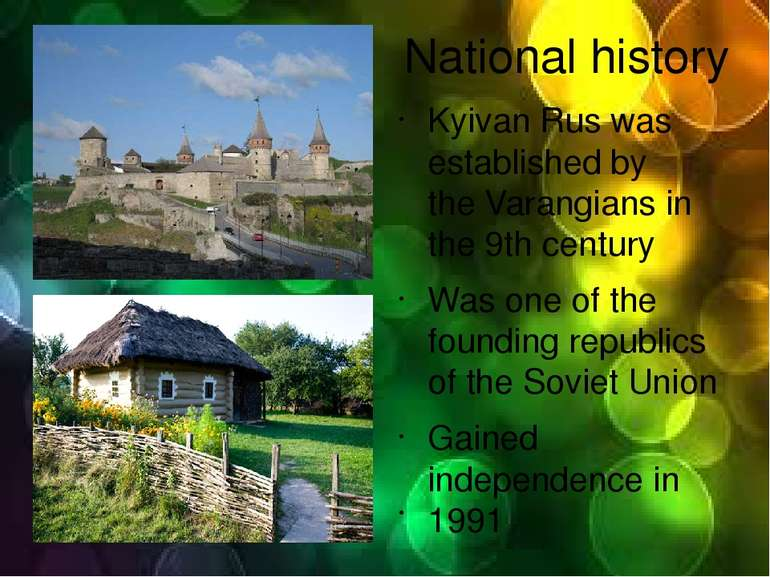 National history Kyivan Rus was established by theVarangiansin the 9thcent...