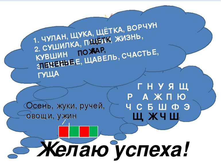 Тема урока «Отработка навыка правописания слов с сочетаниями жи-ши, ча-ща, чу...