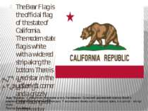 Flag of California. The Bear Flag is the official flag of the state of Califo...