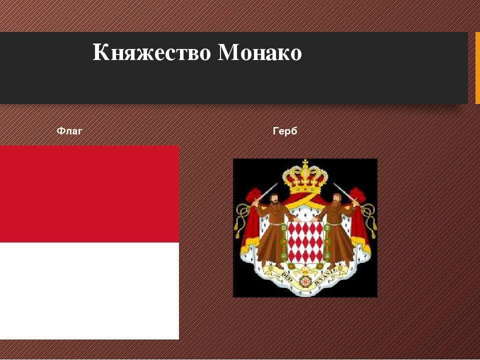 Княжество Монако Флаг Герб