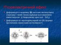 П'єзоелектричний ефект Деформація в напрямку (B) витісняє молекулярну структу...