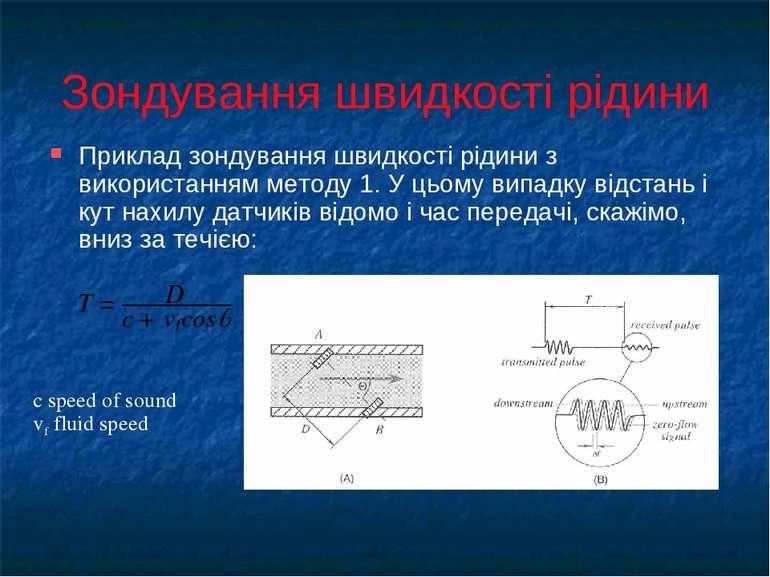 Зондування швидкості рідини Приклад зондування швидкості рідини з використанн...