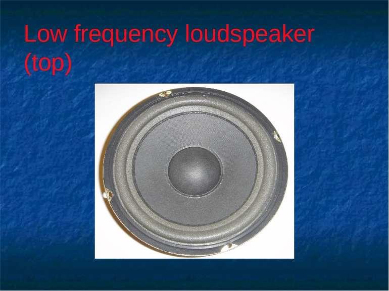 Low frequency loudspeaker (top)