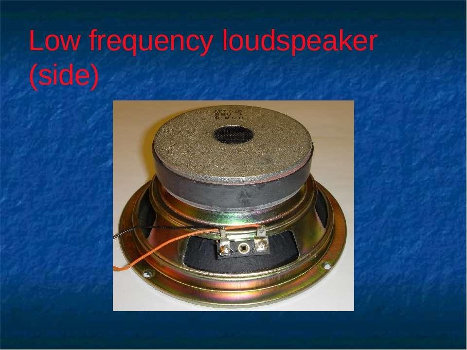 Low frequency loudspeaker (side)