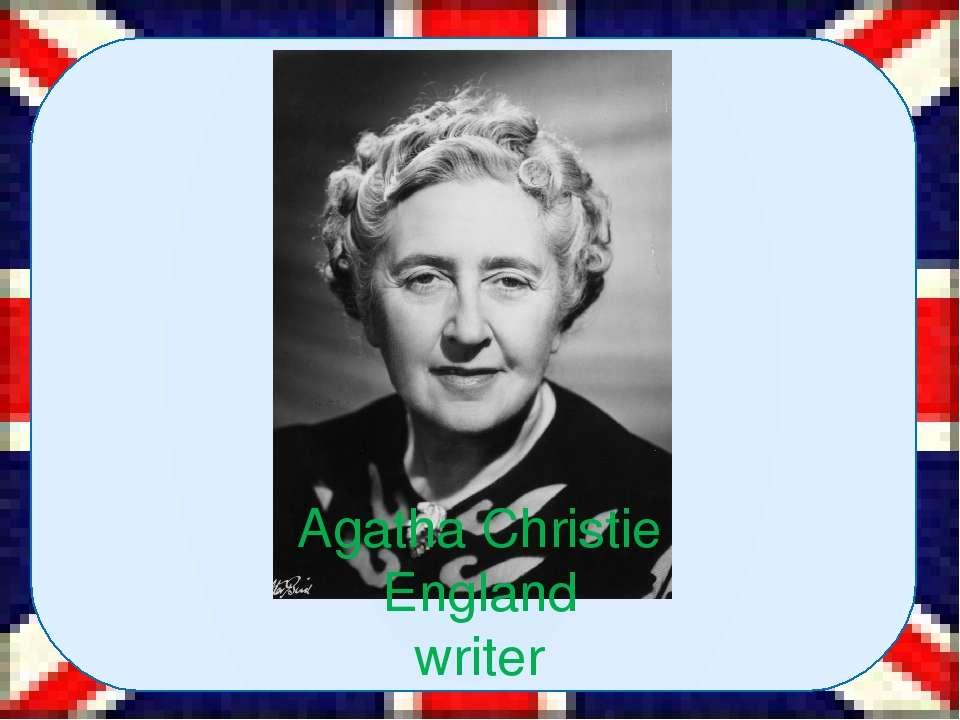 Agatha Christie England writer