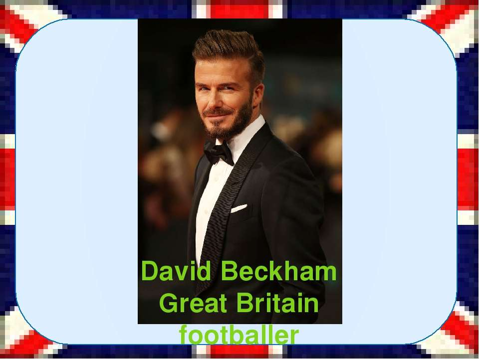 David Beckham Great Britain footballer