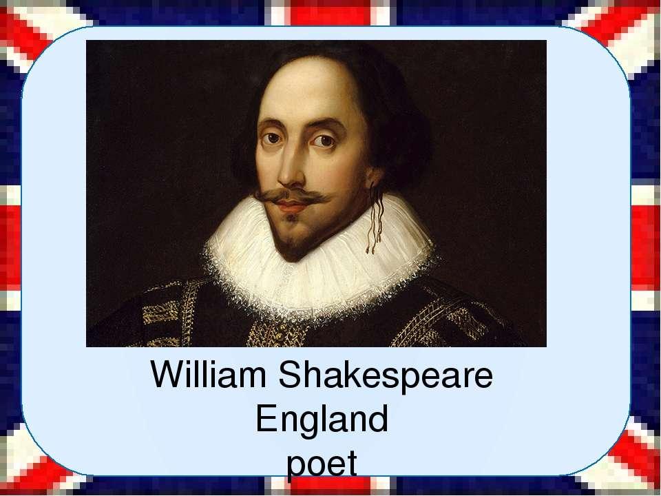 William Shakespeare England poet