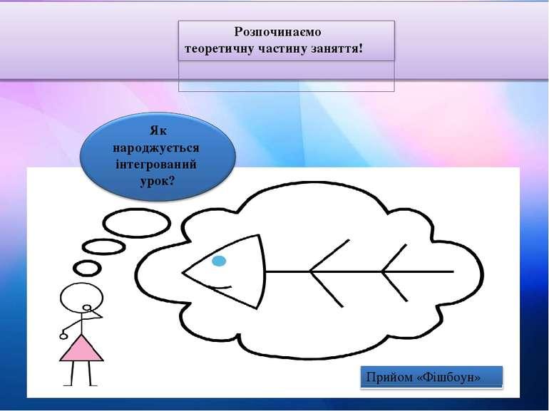 Розпочинаємо теоретичну частину заняття! Як народжується інтегрований урок? П...