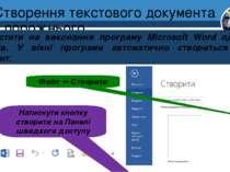 Створення текстового документа з порожнього Запустити на виконання програму M...