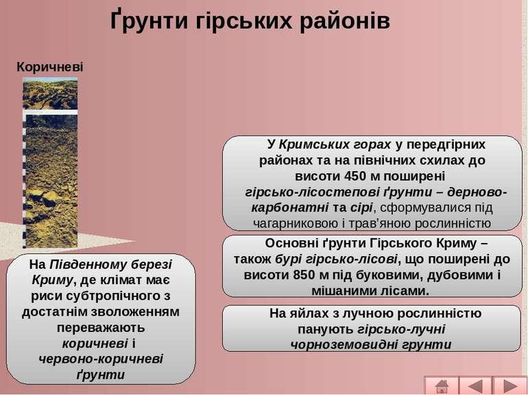 УКримських гораху передгірних районах та на північних схилах до висоти450...