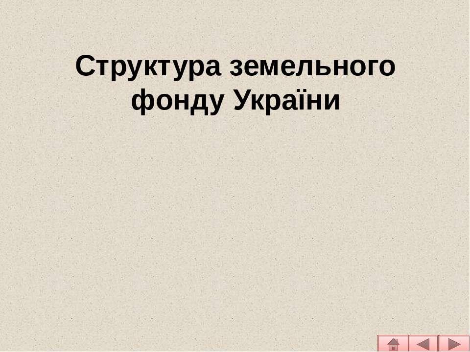 Структура земельного фонду України