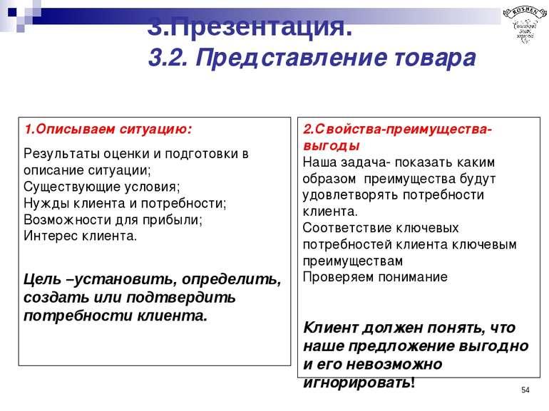 * 1.Описываем ситуацию: Результаты оценки и подготовки в описание ситуации; С...