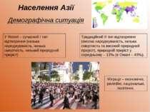 Населення Азії Демографічна ситуація Традиційний II тип відтворення (висока н...