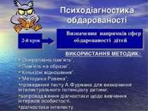 """Психодіагностика обдарованості ВИКОРИСТАННЯ МЕТОДИК: """"Оперативна пам'ять"""", """"П..."""
