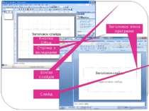 Кнопка Office Стрічка з вкладками Ескізи слайдів Слайд Заголовок вікна програми