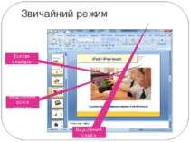 Звичайний режим Ескізи слайдів Виділений ескіз слайда Виділений слайд