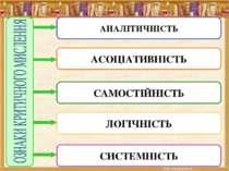 АНАЛІТИЧНІСТЬ СИСТЕМНІСТЬ ЛОГІЧНІСТЬ САМОСТІЙНІСТЬ АСОЦІАТИВНІСТЬ