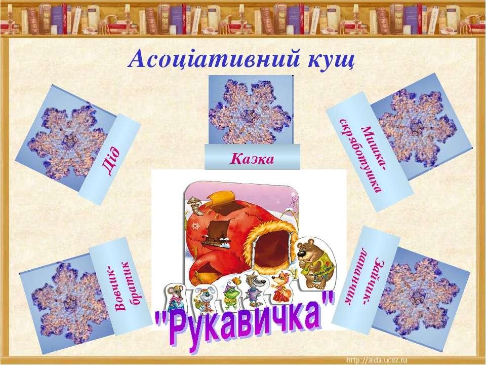 Асоціативний кущ Дід Казка Мишка- скряботушка Зайчик- лапанчик Вовчик- братик
