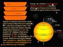 Сонце, як і Земля, обертається навколо власної осі. Вперше обертання Сонця сп...