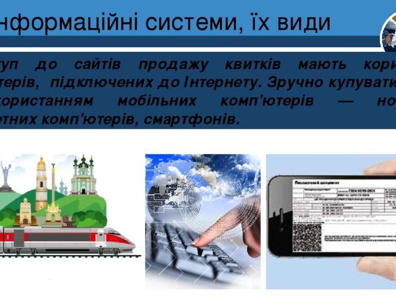 Інформаційні системи, їх види Розділ 1 § 3 Доступ до сайтів продажу квитків м...