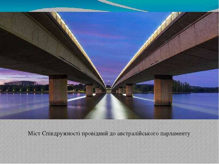 Міст Співдружності провідний до австралійського парламенту